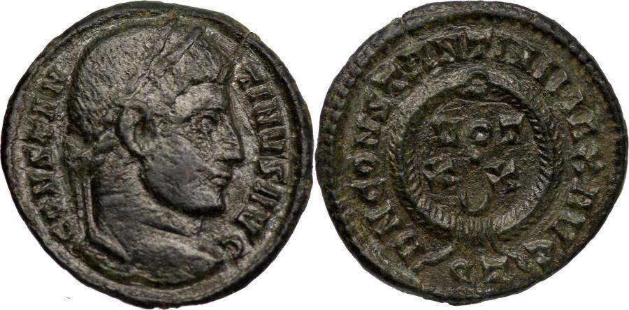 Ancient Coins - Constantine (307-337) AE follis. Ticinum mint.