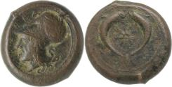 Ancient Coins - Sicily, Syracuse, time of Dionysios I and Dionysios II, c. 375-344 BC. AE 30mm.