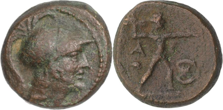 Ancient Coins - Attica, Athens. AE chalkous c. 87/86 BC, struck under Mithridates VI - 18mm, 8,25g, VF