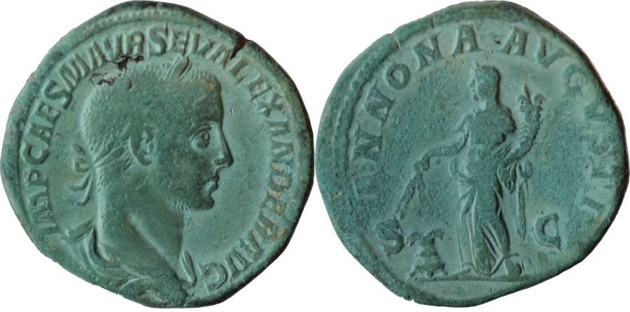 Ancient Coins - Severus Alexander (222-235) Sestertius Rome 226 AS