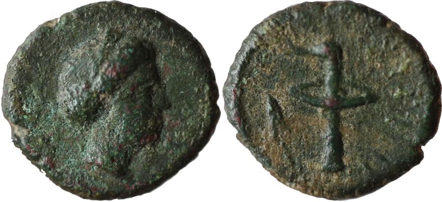 Ancient Coins - Crete, Aptera. AE 17, c. 250-67 BC. VERY RARE