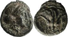 Ancient Coins - Islands off Caria, Rhodes. c. 350-300 BC. AE chalkous.