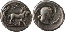 Ancient Coins - Sicily, Syracuse, time of Gelon. Tetradrachm c. 480-475 BC
