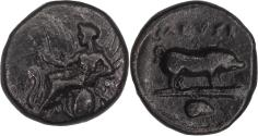 Ancient Coins - Attica, Eleusis, AE 340-335 BCE - Rare - coinage linked to the Eleusinian Mysteries