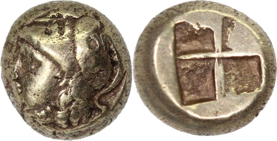 Ancient Coins - Ionia, Phokaia, c. 387-326. Electrum Hekte