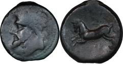 Ancient Coins - Numidian Kingdom, Massinissa or Micipsa, c, 203-148 BC or 148-118 BC. AE 26