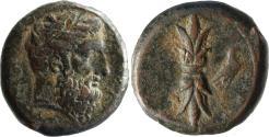 Ancient Coins - Sicily, Syracuse, time of Timoleon. C. 343-339 BC or third democracy, c. 332-317 BC. AE 21mm
