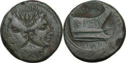 Ancient Coins - Rome imperatorial, Sextus Pompieus, c. 42-38 BCE. AE, AS