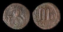 Ancient Coins - Tiberius II Constantine AE Follis. Theupolis Mint (Antioch). Struck in 533/534 AD