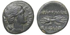 Ancient Coins - Sicily, Syracuse. Agathokles. 317-289 BC. AE Litra 295 BC aXF