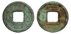 World Coins - Kingdom of Shu. 221-265. 100 Wu Zhu.  O:\ Zhi bai Wu Zhu