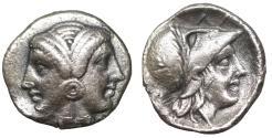 Ancient Coins - Mysia. Lampsakos. 4th-3rd BC. AR Diobol Choice XF
