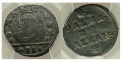 World Coins - Venice. Dalmatia & Albania Gazzetta ND (c. 1710). KM9. PCGS VF Detail
