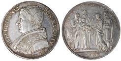 World Coins - Papal States Gregory XVI Scudo 1831 Roma. Rare. XF