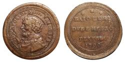 World Coins - Papal States Pius VI 1755-1799 Perugia 2 Baiocchi e Mezzo XF