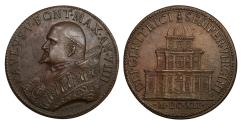 World Coins - Papal States Pope Paul V 1605-1621 Bronze medal 1612 Rare. Mint State