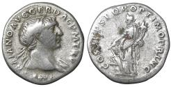 Ancient Coins - Trajan. 98-117 AD. AR denarius. Rome mint. aXF
