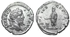 Ancient Coins - Septimius Severus Denarius. 207 AD - XF\UNC - Roman coin