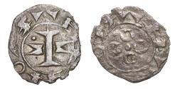 World Coins - FRANCE Languedoc County of Melgueil Raymond 12th-13th Centuries AD. AR Obol VF. SCARCE