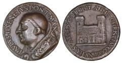 World Coins - Papal States Paul II 1464-1471 Life time Medal 1465 Foundation of Venezia Palace in Rome Rare XF