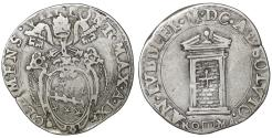 World Coins - Papal States ROME Pope Clement VIII 1592-1605 Testone aUNC