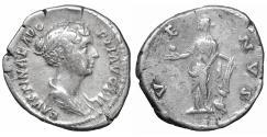 Ancient Coins - Faustina II AR Denarius Struck under Antoninus Pius Rome AD 147-150 XF Venus