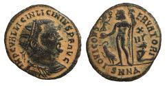Ancient Coins - Licinius I 308-324 AD AE follis IOVI CONSERVATORI XF \ Roman Coins