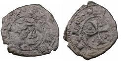 World Coins - Italy Sicily Kingdom Giacomo d'Aragona 1285 - 1296 Denaro VF\XF