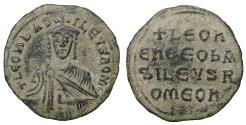 Ancient Coins - Leo VI 886-912 AD AE Follis Sandy patina. XF\UNC  Byzantine Coins