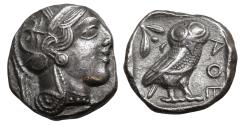 Ancient Coins - Attica Athens Silver Tetradrachm 454-404 BC XF+ \ Greek Coin