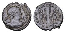 Ancient Coins - CONSTANTINE II. 337-340 AD. BRONZE. GLORIA EXERCITVS ex. TRS