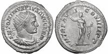 Ancient Coins - Caracalla. Silver Antoninianus. Struck 215 AD Well centered. aUNC \ roman coin