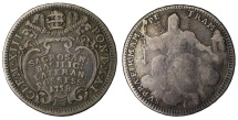World Coins - Papal States Clement XIII 1/5 Sudo Rare VF+