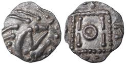 World Coins - Early Anglo-Saxon England, continental phase. 695-740 AD. AR Sceat Rare. UNC