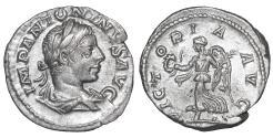 Ancient Coins - Elagabalus 218-222 AD Denarius Rome \ Victory \ XF+