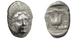 Ancient Coins - Caria. Rhodos. Rhodes. 408/7-390 BC. AR Hemidrachm. aXF
