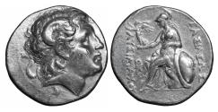 Ancient Coins - Kings of Thrace Lysimachos Silver Tetradrachm 305-281 BC XF+