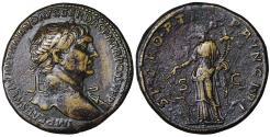 Ancient Coins - Trajan. 98-117 AD. AE Sestertius Fortuna VF\XF