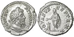 Ancient Coins - Septimius Severus. AR Denarius Struck AD 202-210 UNC
