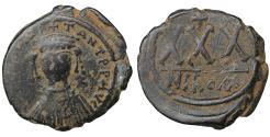 Ancient Coins - Tiberius II Constantine 578-582 Æ 3/4 Follis - 30 Nummi aXF Byzantine Coins