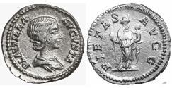 Ancient Coins - Plautilla 202-205 AD Silver Denarius Rome Mint Near Mint State
