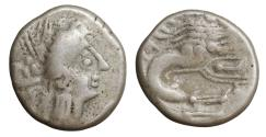 Ancient Coins - CELTIC Southern Gaul Insubres 2nd century BC AR Drachm aXF