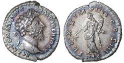 Ancient Coins - Marcus Aurelius. A.D. 161-180. AR denarius. Iridescent Patina. Uncirculated Pax