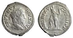 Ancient Coins - Septimius Severus (193 - 211 AD). Denarius. 209 AD. Roma mint. \ Neptune  \ VF+