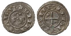 World Coins - Sicily Kingdom. Frederich II 1197-1250. Messina. Denar 1248. XF