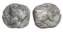 Ancient Coins - Sicily Panormos as Ziz AR Litra 410-405 BC Rare VF\XF