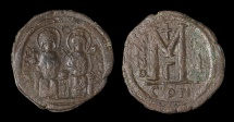 Ancient Coins - Justin II AD 565-572. AE.Follis, struck AD 565/566. Mint of Constantinople.