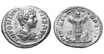 Ancient Coins - Caracalla. 196-217 AD. Denarius. two Persians bound SCARCE EF