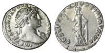 Ancient Coins - Trajan Denarius 108 AD \ Roma \ VF/XF