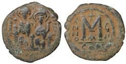 Ancient Coins - Justin II 565-578 AD AE Follis VF\XF \ Byzantine Coins